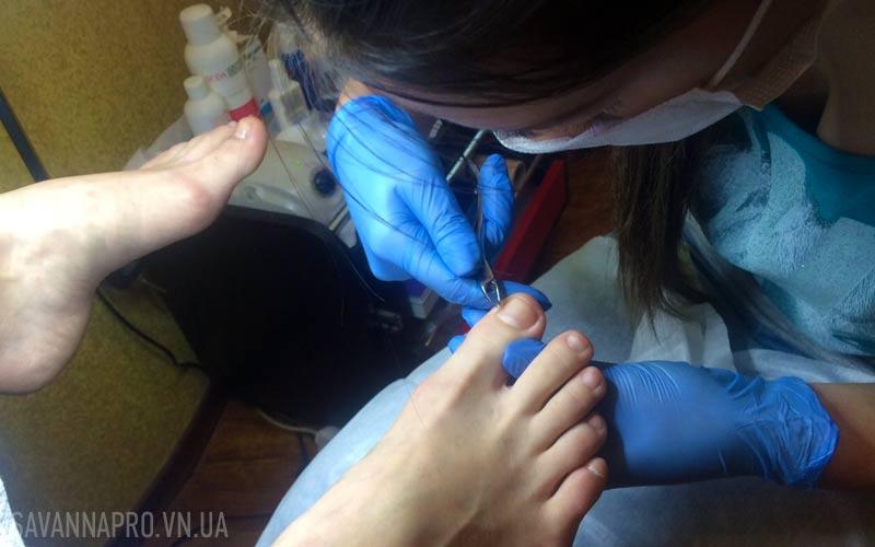 Отработка на курсе педикюр обрезной